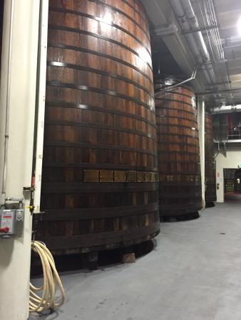 Beaulieu Vineyard: The huge barrels.....,