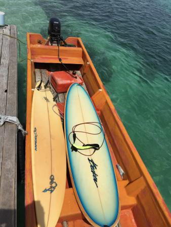 Lola Island, Wyspy Salomona: Off to Skull Island with the boards