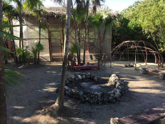 Yoga pavilion, fire ring and sweat lodge