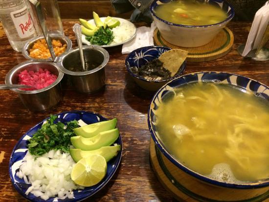 Big soups at El Caldero