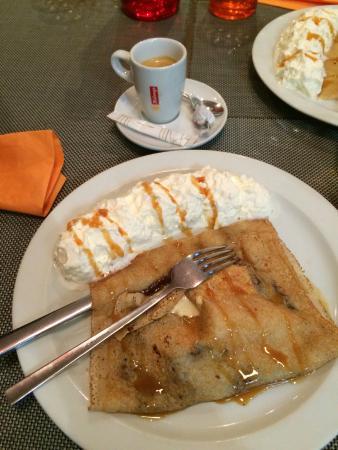 Le coin des Artistes Creperie: Délice dessert crêpe