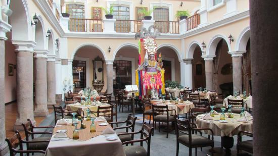 Hotel Patio Andaluz: dining area - Dining Area - Picture Of Hotel Patio Andaluz, Quito - TripAdvisor