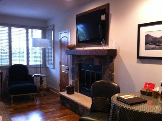 Vintage Inn: Fireplace