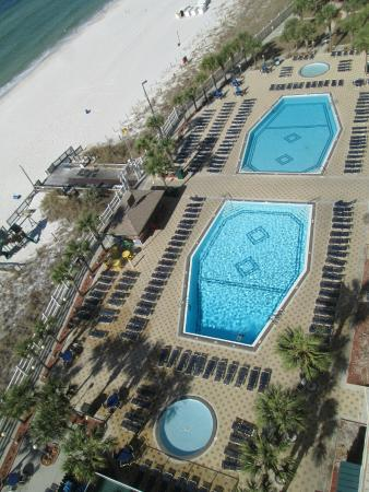Heated Pools Viewed From The 13th Floor