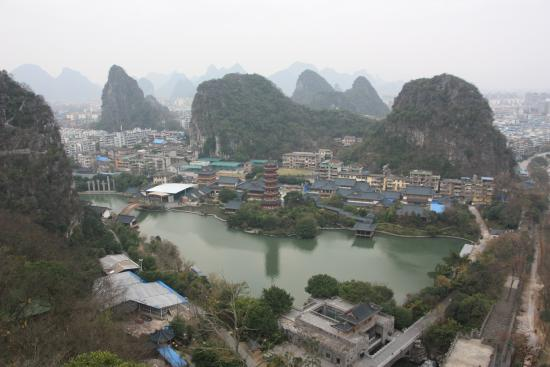 Folded Brocade Hill (Diecai Hill) : View of Guilin