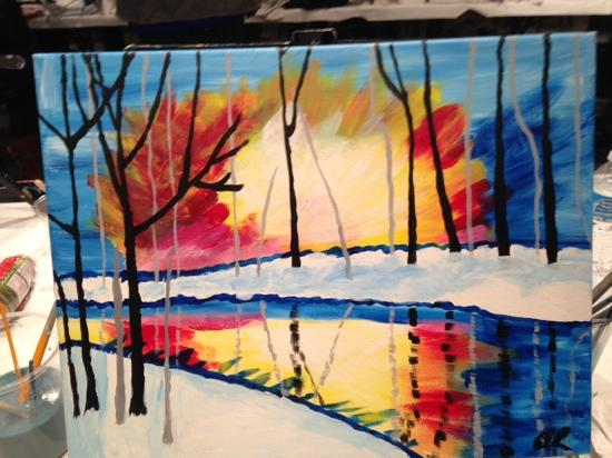 Wine and Canvas: the finished product