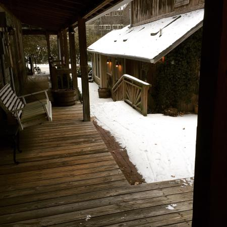 The Chandler Inn: Waking up to the beautiful snow
