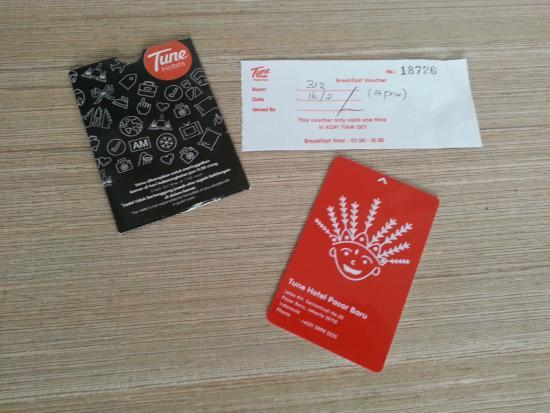 Red Planet Jakarta Pasar Baru: Kartu dan Voucher