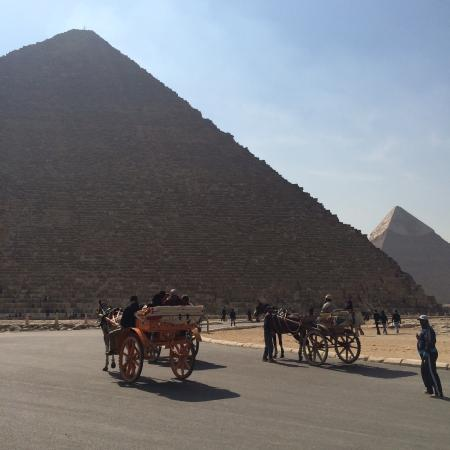 Giza, Egypt: Carriages on the pyramid grounds