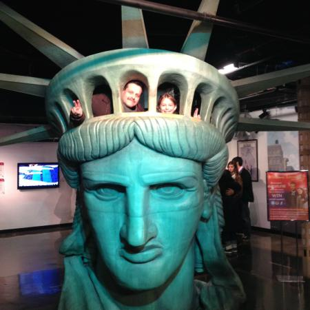 The Statue Of Liberty Inside The Crown