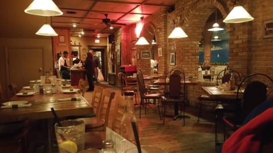 Dining Area At Manos Greek Restaurant