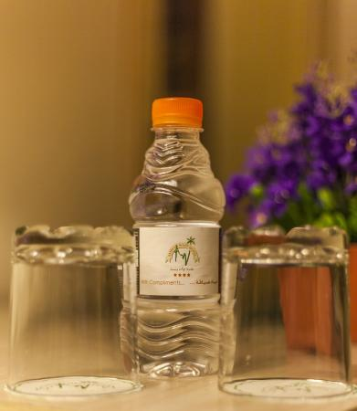 Amman West Hotel : Complimentary Water
