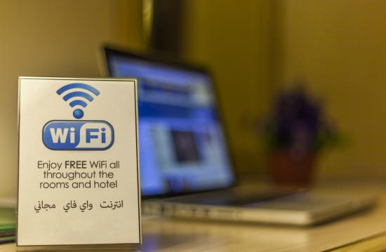 Amman West Hotel : Free Wifi in rooms and hotel