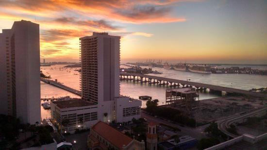 Miami Sunrise Picture Of Hilton Miami Downtown Miami