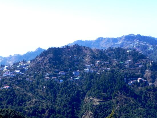 View of Mussoorie town from Lal Tibba