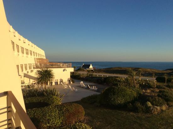 Sofitel Quiberon Diététique : vue du balcon de l'hôtel
