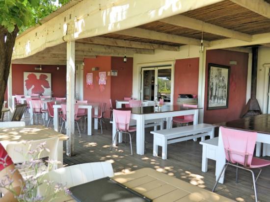 Beyerskloof Tasting Room: Outside area