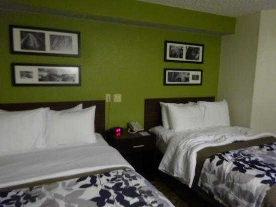 Sleep Inn at Miami International Airport: Betten Doppelzimmer (Double/Twin Room)