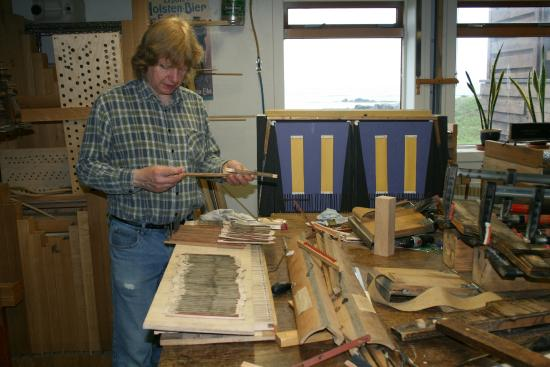 The organ builder at work - Picture of Orgelsmidjan / Pipe