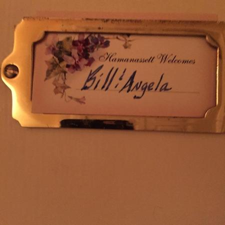 Chester Heights, Pensilvania: Room door with Welcome