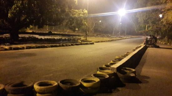 Arpora, India: Go Karting @ night