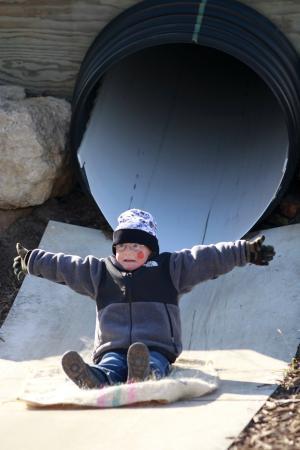 Juneau, WI: Giant Underground Slides!