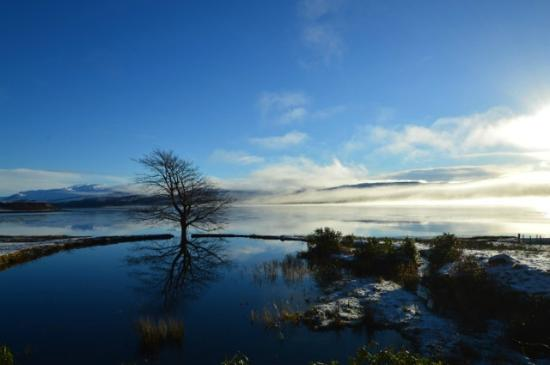 Tiroran House Hotel & Restaurant : A Stunning Winter Photograph of our Private Trout Pond on the Hotel Beach