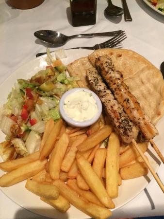 The Brasserie: Chicken souvlaki