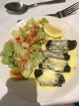 The Brasserie: Stuffed vine leaves