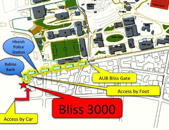 Bliss 3000: Location Map