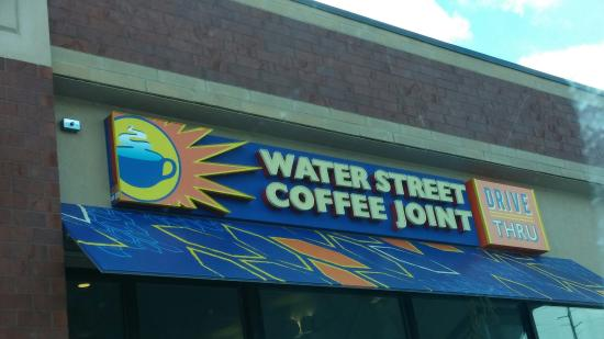 Water Street Coffee Joint: Sign out front