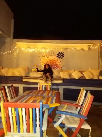 Hostel Malti: beatiful roofterrace!!!