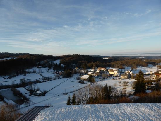HOTEL LES ALPAGES : vue sur le village de Bonlieu