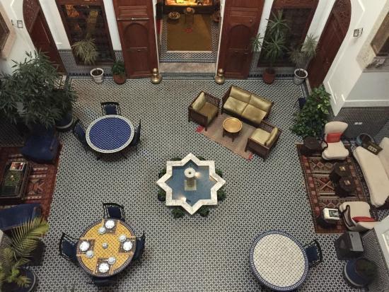 Riad Zamane: binnentuin
