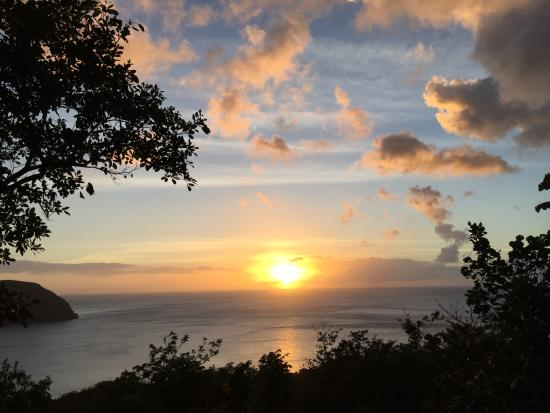 Sunset at manicou river resort