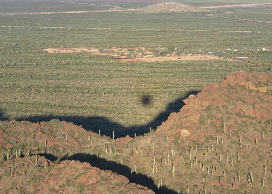 Tucson Balloon Rides : Over the Tucson Mts and on to Avra Valley