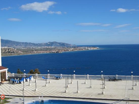 Best Western Hotel Salobreña: The view from my balcony towards Salobreña
