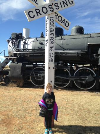 National Ranching Heritage Center : Train thats attached to cattle carts.