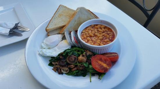Bean In: Vegetarian Delight breakfast.