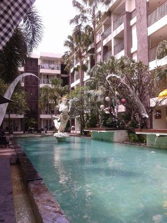 Bali Kuta Resort & Convention Center : by pool view, Next to reception.