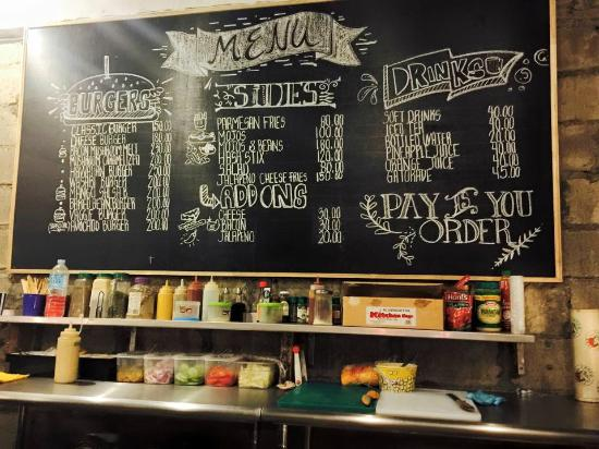 Pop Up Kitchen Our Burger Menu Heres A Tip Ask The Chef For Personalized