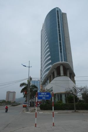 Muong Thanh Ha Long Hotel: One of the taller buildings in Halong Bay