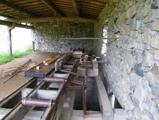 Lavoine, Frankrike: scierie à eau