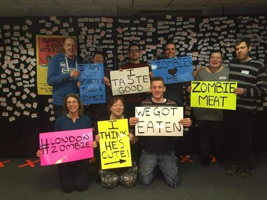 Our group, just zombie munchies. - Picture of Trapped Escape Rooms ...