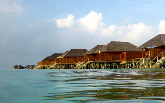 Veligandu: Sunset side  , water villas