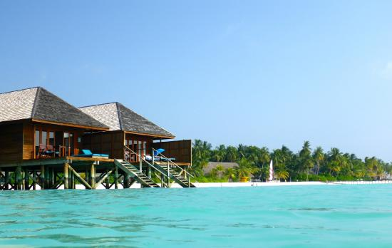 Veligandu : Sunset side  , water villas