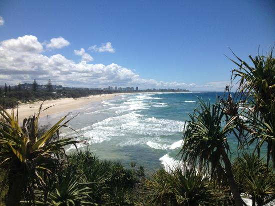The Village at Burleigh Heads: View north along the coast