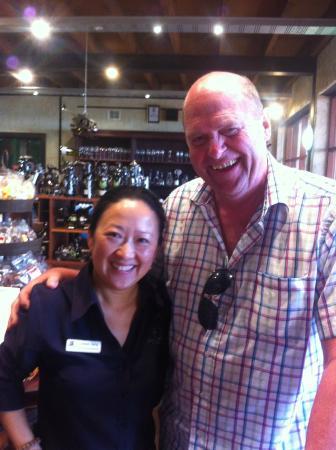 Sandalford Caversham Estate Restaurant : Dane enjoying Australian hospitality at it's best!