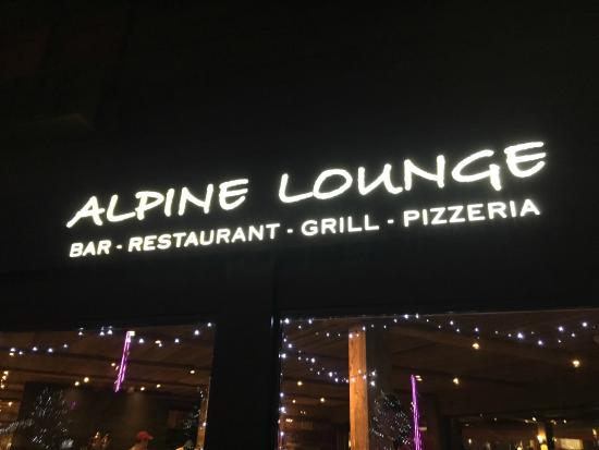 Alpine Lounge: View from outside