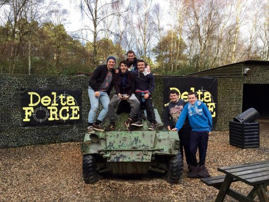Houston, UK: Brilliant birthday day out at Delta Force Paintballing Glasgow.